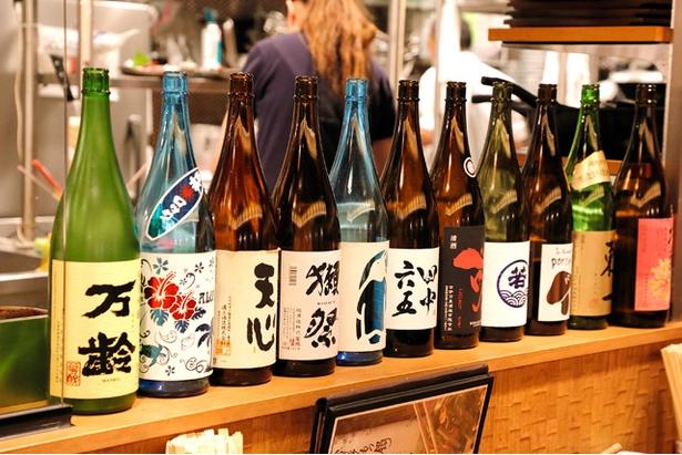 旨いものがあれば、旨い酒が欲しくなる!地酒、日本酒、ワイン各種あり