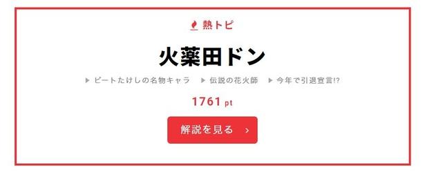 """【写真を見る】""""熱トピ""""にも「27時間テレビ」関連ワードが"""