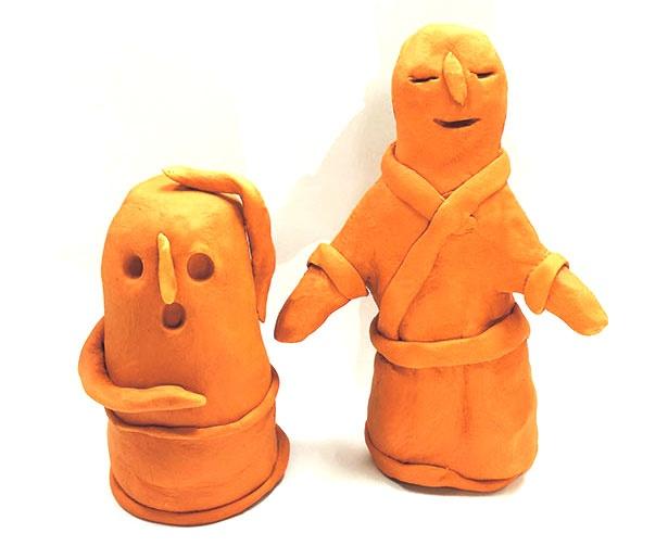 イオンモール堺北花田では、粘土でオリジナルはにわを作るイベントを開催