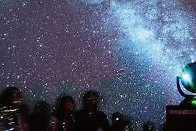 イオンモール和歌山では、ドーム型プラネタリウムが登場!