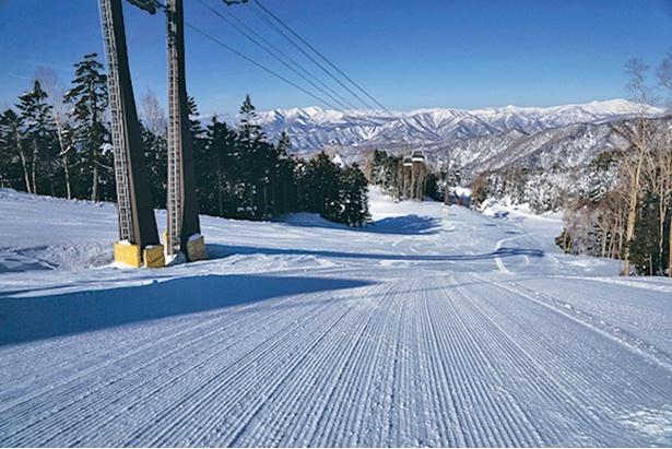 丸沼高原スキー場の圧雪バーン