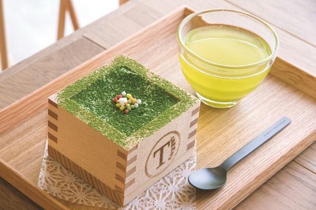 「抹茶ティラミスセット」(1200円)/T-GREEN'S 新世界店