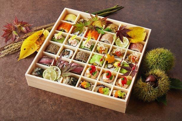 【写真を見る】【12種36貫】SHARI特製秋の行楽弁当(4500円)が今秋新発売