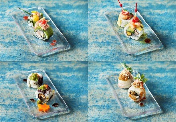 秋の新作4種/カプレーゼ風ロール寿司など