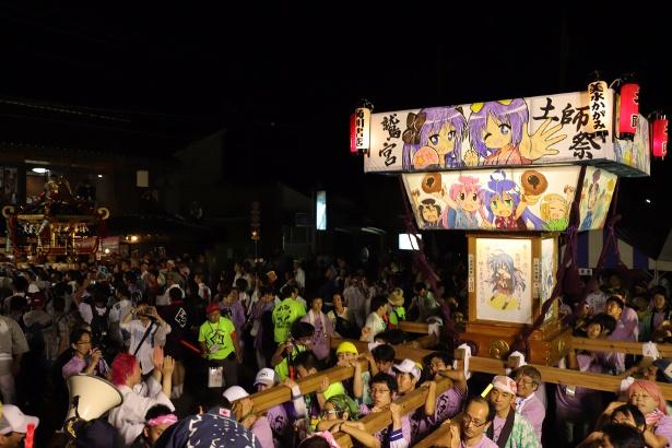 """今年で10回目! """"らき☆すた神輿""""が聖地のお祭りで躍動!"""