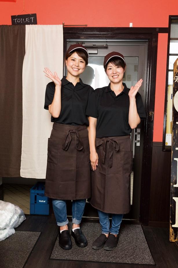 看板姉妹の千春さん(左・妹) 、山口 藍さん(右・姉)