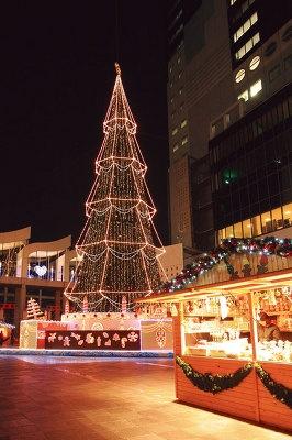 約10万個の電球に彩られた、高さ約27mのクリスマスツリー※写真はイメージです