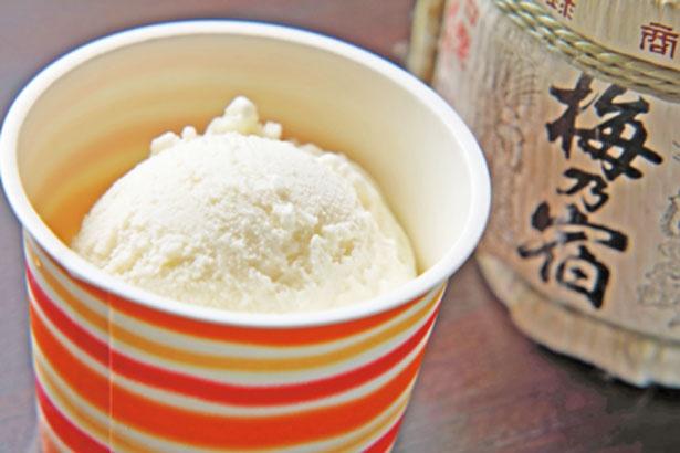 ジェラート「酒粕ミルクシングル」(350円)/葛城茶房フォレストカフェ