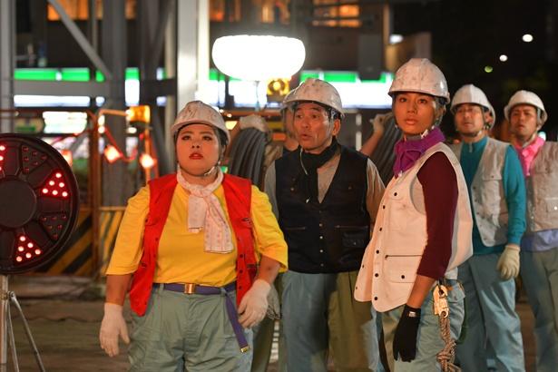 本日19日(火)夜10時より「カンナさーん!」最終回をオンエア。渡辺直美演じるカンナが工事現場に!?