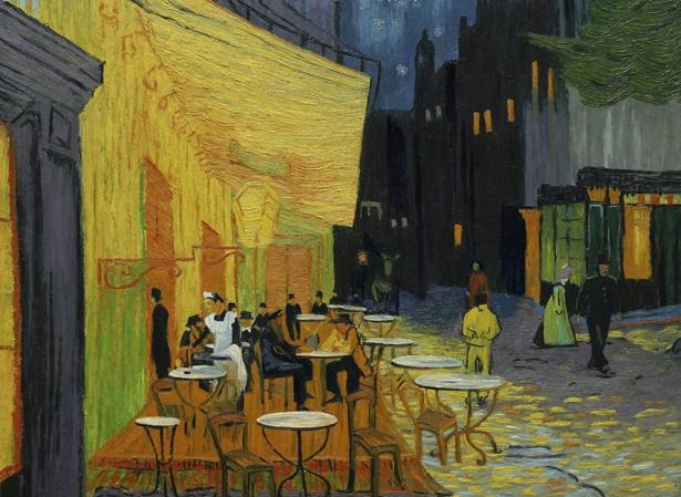 【写真を見る】名画「夜のカフェテラス」の中で、登場人物や景色が生き生きと動く