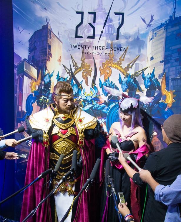 松平健が主人公の強敵に扮して登場!本格RPG「23/7」イベントレポート