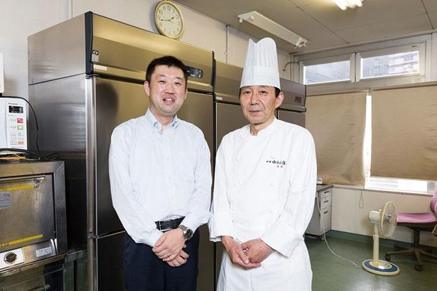 【写真を見る】開発を担当した川村裕介さん(左)と西尾定雄さん(右)