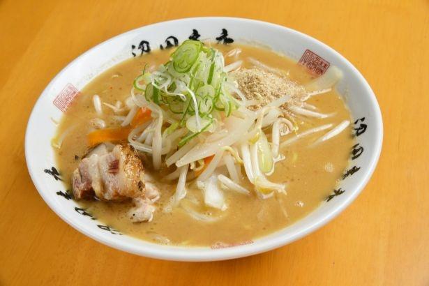 麺組ならではのオリジナリティ溢れる「味噌ラーメン」(850円)