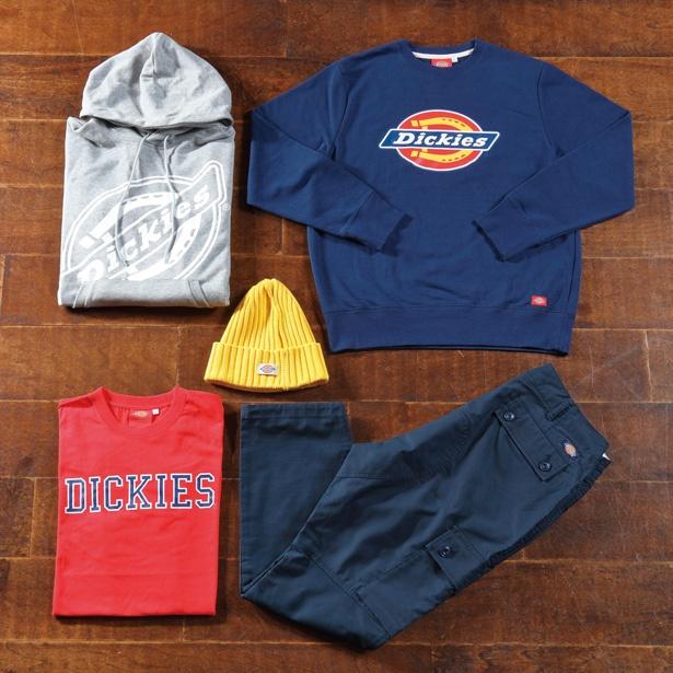 ブランドロゴがインパクト大のトレーナー(右上、3888円)/Dickies Outlet Store