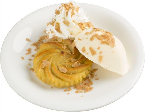 温かい安納芋と、冷たいアイスが相性抜群の「あったか安納芋のメルバ」(税抜180円)