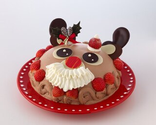 サンタのようなイチゴのかわいい帽子と生クリームのおひげをつけた、期間限定の「ハッピームームー(トナカイ)」4100円
