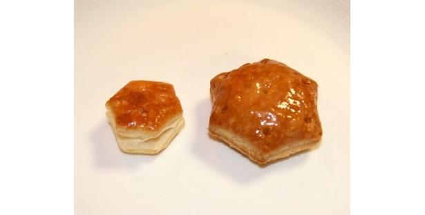 【写真】大きさ比較! 右がBigなパイの実