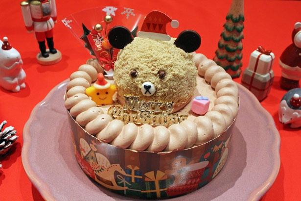 【写真を見る】ミルクチョコムース&コーヒースポンジクラムで作られた、クマさんがキュート!「くまさんのチョコレートケーキ(5号)」(3900円)