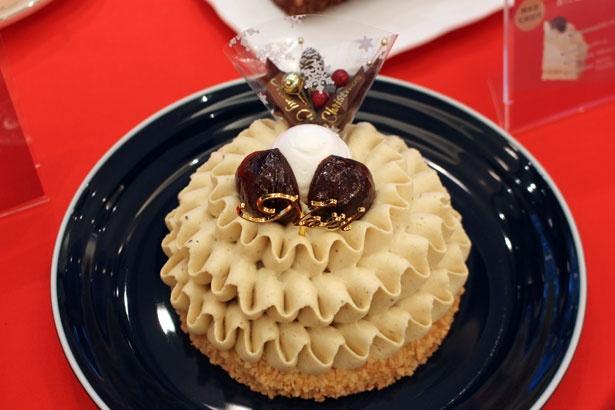 素材、見た目の両方にこだわったケーキも用意。写真は熊本産和栗を贅沢に使用した「熊本産和栗のモンブラン(4.5号)」(3600円)