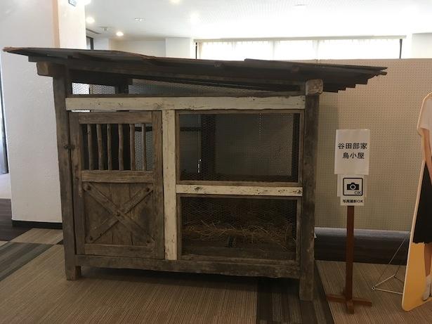 谷田部家の鳥小屋も展示されていた