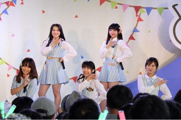 フジテレビ本社屋「フジさんのヨコ」で行われた「SKE48 CAFE&SHOP出張イベント」に登場したSKE48メンバー