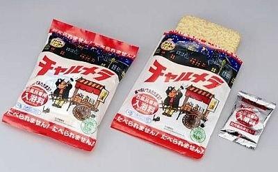 「カップニューヨクチャルメラ袋麺」