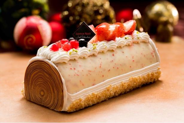 「ジョエル・ロブション ブッシュドノエル アイスケーキ ~ストロベリーの風味で~」全国のセブンイレブンで予約開始された