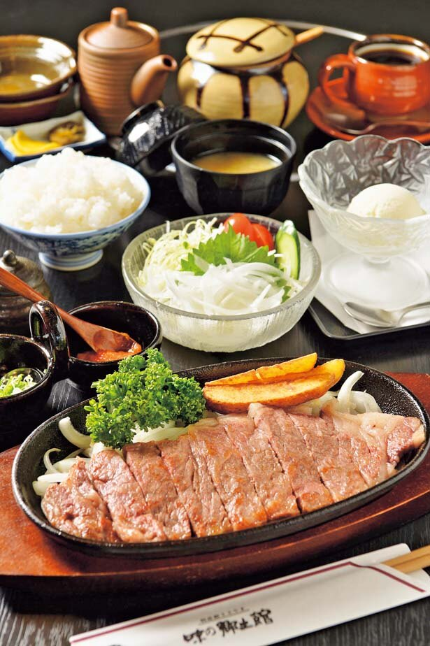 「丹波篠山牛ステーキセット」(3500円/120g)/特産館ささやま