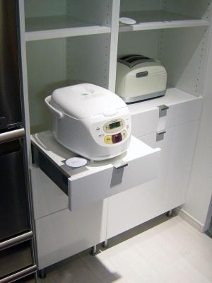 日本人だけが多く使う炊飯器の収納問題もイケアの商品で解決(IKEAポートアイランド)