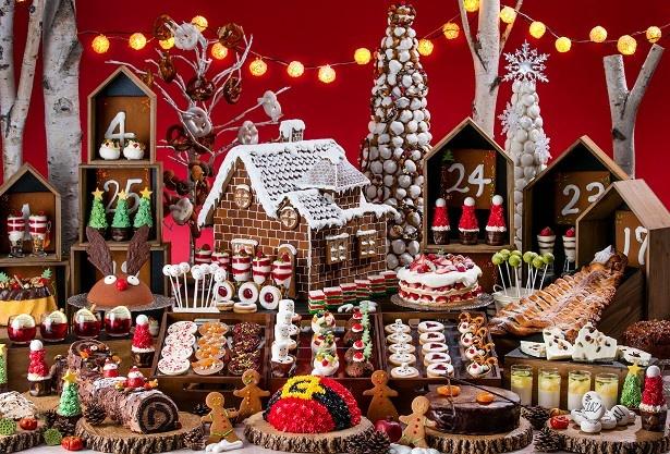 ヒルトン東京お台場にて「ミニチュア・クリスマスマーケットの世界」ホリデーデザートブッフェ開催