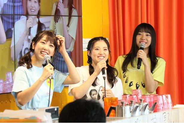 「SKE48 CAFE&SHOP」では、熊崎晴香(左)と木本花音がタコライスづくりで対決!