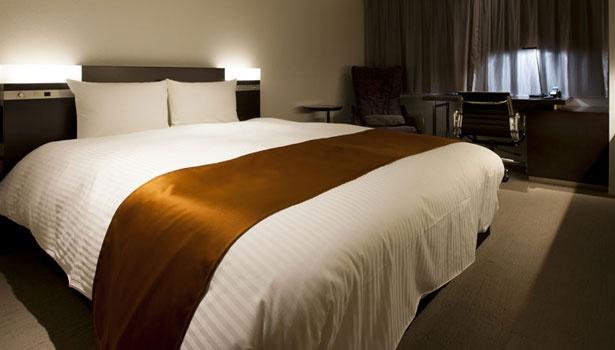 上質ベッド、セパレート型のバストイレなど快適な客室/ダイワロイネットホテル銀座