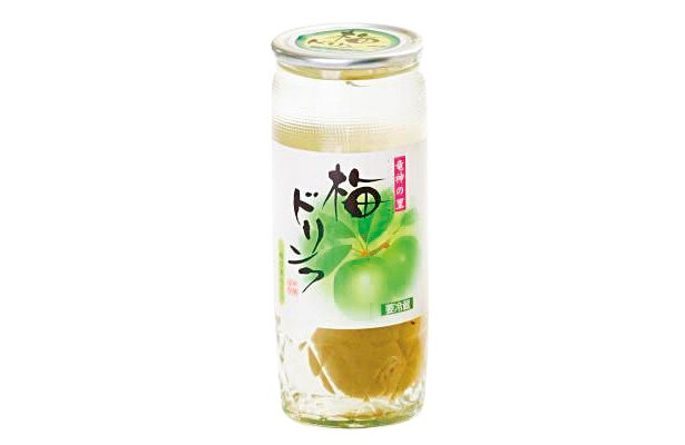 肉厚な梅の実が入っている「梅ドリンク(梅の実入り)」(205円、200ml)