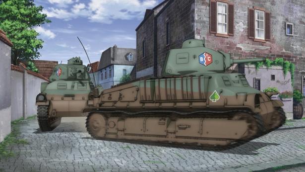 疾走するBC自由学園チームの戦車。どんな試合が繰り広げられる!?