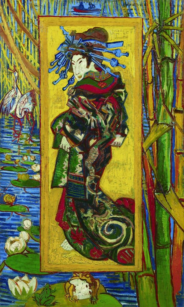 溪斎英泉の花魁を描いた浮世絵などをモチーフにしたゴッホの《花魁》