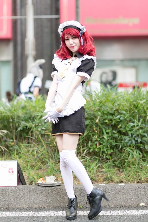 「ラブライブ!」の西木野真姫(カフェメイド覚醒前)に扮するらむさん