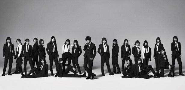 10月25日(水)に5thシングル「風に吹かれても」を発売する欅坂46が、けやき坂46の2期生と初対面
