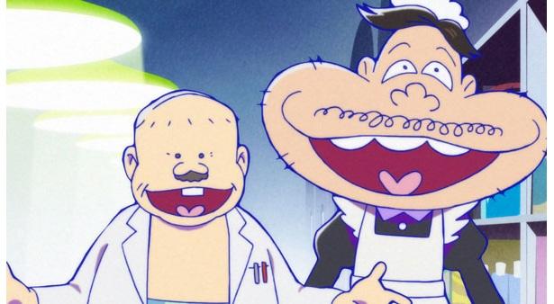 「おそ松さん 第2期」第2話のカットが到着。デカパンの発明品を持って出かけたイヤミの前に6つ子が…!