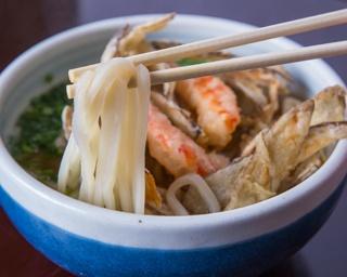 モッチリした食感が楽しめる細麺。魚介の香り立つスープによく合う