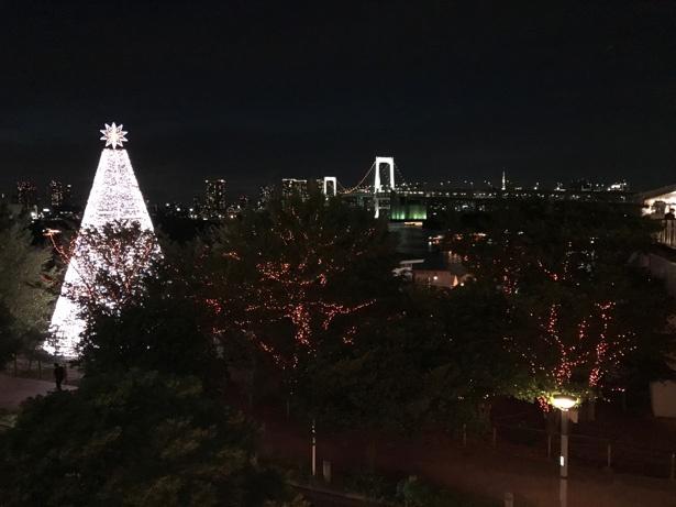 iPhone 7で普通に撮影すると、手前の木々や遠景が暗い仕上がりに