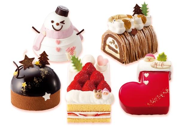可愛いサイズの「クリスマスケーキ」全5種が登場! 銀のぶどうのクリスマス