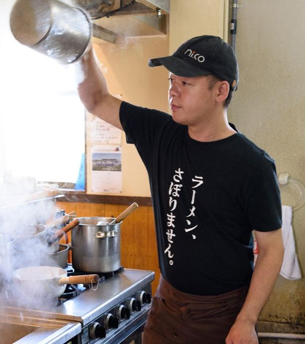 店主 西川浩司さんの合言葉は「ラーメン、さぼりません」/ラーメン にっこう
