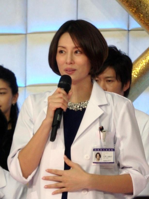 「ドクターX~外科医・大門未知子~」で主演を務める米倉涼子