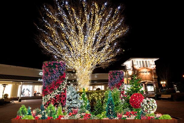 御殿場プレミアム・アウトレットでは、約10万球の光が輝く