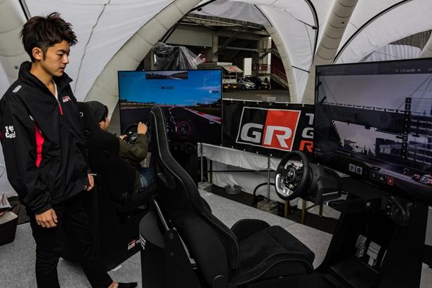 小林可夢偉監修のTS050 HYBRIDシュミレーターで富士スピードウェイにチャレンジ!