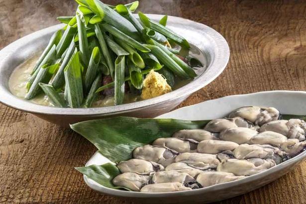 「牡蠣生姜鍋」(1人前1500円)は、奥松島産のぷりぷりとした食感が特徴の真牡蠣を使用している