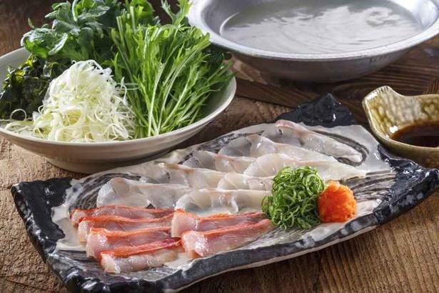 クエと金目鯛を同時に楽しめる贅沢鍋「五島産クエと金目鯛のしゃぶしゃぶ」