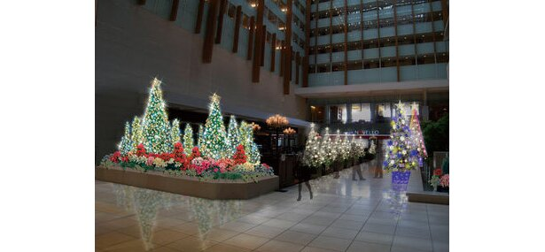 キュービックプラザ新横浜のクリスマスイルミ(イメージです)