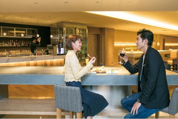 ディナーのあとは地元ワインを堪能 / 富士マリオットホテル山中湖