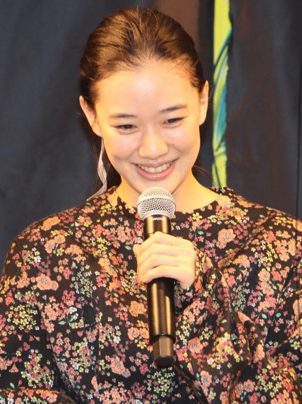 蒼井優、光浦靖子に「美人」だと言われて照れる